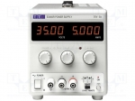 Aim-tti / Power supply: laboratory; Channels:1; 0÷35VDC; 0÷5A; Plug: EU