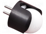 "Pololu BALL CASTER WITH 3/4"" PLASTIC BALL / Ball casters; screw; Ø: 19.1"