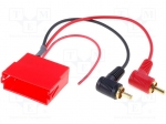 4carmedia / Adapter; ISO mini socket,RCA plug x2