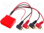 4carmedia / Adapter; ISO mini socket, RCA plug x4