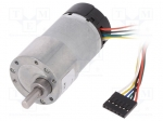 Dfrobot FIT0186 / Motor: DC; with encoder, with gearbox; 12VDC; 7A; Shaft