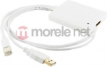 4world Kabel USB 4World mini DisplayPort [M] + USB [M] > HDMI [F], 0.5m,